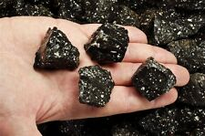 2 Pounds of Natural Black Volcano Jasper Stones - Cabbing, Tumble Rocks, Reiki