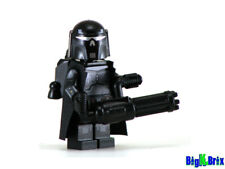 MANDALORIAN EXECUTIONER BLACK Custom Printed on Lego Minifigure! Star Wars Merc