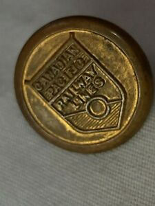 Canadian Pacific Railway Lines Button. Brass