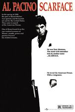 1199 AL PACINO SCARFACE GRAINY BLACK AND WHITE Poster Print Art A1 A2 A3 A4