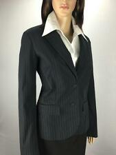 ** ESPRIT ** Size 12 Navy Pinstripe Womens Corporate Work Occasion Jacket-(A271)