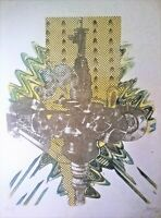 Cuban Art. Lithography by Juan Boza. Untitled, 1973. Original signed by Boza.