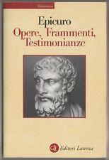 Opere, frammenti, testimonianze - Epicuro
