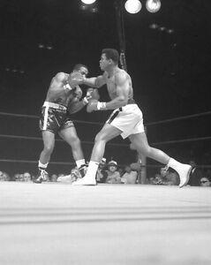 1965 MUHAMMAD ALI vs SONNY LISTON Glossy 8x10 Boxing Photo Championship Bout!