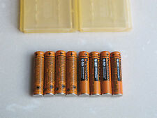 8*Panasonic Original AAA Phone Rechargeable Battery Panasonic HHR-65AAABU &Cases
