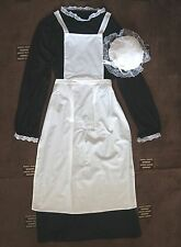 CHILDS VICTORIAN MAID COSTUME GIRLS WAITRESS APRON MOP HAT POST FREE