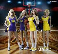 In-Stock 1/6 Scale Maestro Studios MSS002 Laker Cheer leader Female Clothes Set