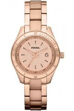 Fossil Watch * ES3019 Stella Mini Rose Gold Stainless Steel Date Watch for Women