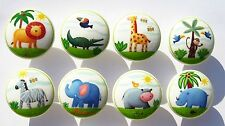 8 JUNGLE ANIMAL SAFARI DRESSER KIDS BOYS DRAWER KNOBS  MADE AS ORDERED