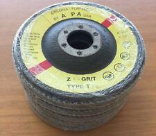 5 X PILATUS ABRASIVES FLAP DISC - 115MM ZIRCONIA 40#