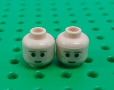 *NEW* Lego Flesh Freckle Face Heads Boy Anakin Minifig Figures Figs - 2 pieces