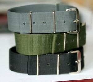 MILITARY MOD SPECIFICATION 20MM NYLON G10 WATCH STRAP MADE IN WALES FIXED BUCKLE