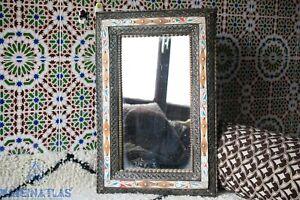Morocco mirror Arabic decor bone inlay mirror Boho art deco mirror large mirror