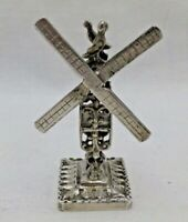 Miniature Antique Solid Sterling Silver Cast Windmill Chester 1900