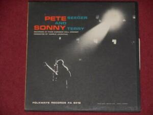 PETE SEEGER & SONNY TERRY Carnegie Hall VINYL LP - FOLKWAYS FA 2412 - USA - 1963
