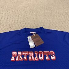 New England Patriots Mitchell & Ness Throwback Baseball Fit Jersey NFL NWT 3XL