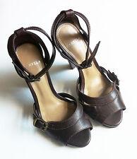 CARVELA brown leather platform sandals high heel ankle strap size 36 (UK 3)