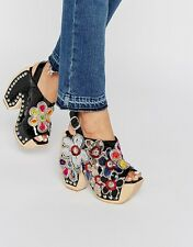 jeffrey campbell tove black heels floral new in box size 7