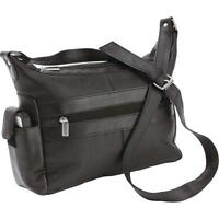 """Genuine Leather Purse Shoulder Bag with Cell Phone Pocket 10-3/4"""" x 9"""" x 3-3/4"""""""