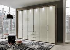 LUXURY GERMAN 100CM WARDROBE BEDROOM HIGH GLOSS BLACK GRAPHITE WHITE FITTED FREE