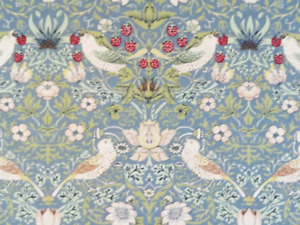 William Morris Gallery Strawberry Thief Minor Blue Cotton Table Cloths