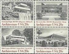 Frank Lloyd Wright Mies van der Rohe Walter Gropius Eero Saarinen US Stamps MINT