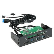 """5.25"""" inch Internal Card Reader Media Dashboard PC Front Panel Type-C USB3.1 3.0"""