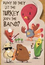 """""""Why Did They Let Turkey Join Band? He Had Drumsticks!"""" FUNNY THANKSGIVING CARD"""