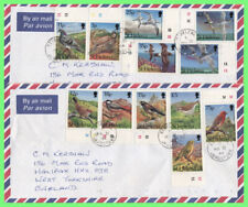 St Helena 1994 Birds definitives on two airmail covers