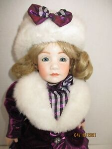 """Porcelain / Paper Mache Reproduction of a Boots Tyner Design Doll 14"""" 1984"""