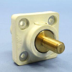 Leviton White Female Threaded Cam Plug Panel Receptacle 16 Series 400A 16R24-11W