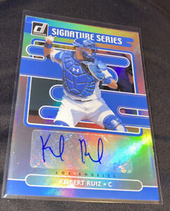 2021 Donruss Keibert Ruiz RC Signature Series Autograph Dodgers SS-KR MINT 🔥