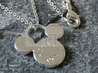 Silver Necklace Disneys Mickey Mouse Pendant Chain Charm Costume Jewellery WN006