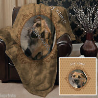 Personalised Neutral Dog Pet Photo Design Soft Fleece Blanket Cover Animal