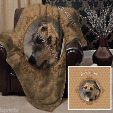 Personalised Neutral Dog Pet Photo Design Soft Fleece Blanket Cover Animal