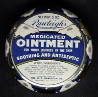 Vintage Medicine Tin, Rawleighs Medicated ointment, original empty tin