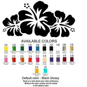 Flowers Vinyl Decal Sticker Refrigerator Window Car Hibiscus USA Seller