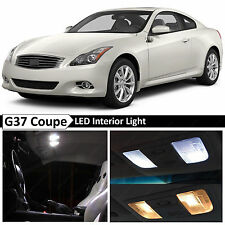 White Interior LED Lights Package Kit for 2008-2014 G37 Coupe