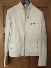 Versace Leather Jacket Cream 48inch chest