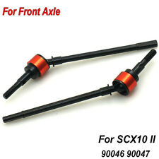 2 x Metal Steel CVD Drive Shaft For Axle Axial SCX10 II 90046 90047 RC Crawler