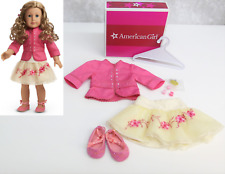 American Girl Doll NICKI GALA OUTFIT Tulle Skirt Jacket Top Shoes Hair Clips BOX