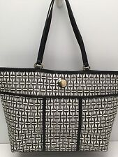 Tommy Hilfiger Handbag* White/Black *Large Tote Travel Shoulder Bag New $99