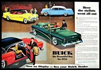 1954 BUICK  Roadmaster Century Special Hardtop & Convertible 2-pg Classic Car AD