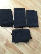 Fabric 4 pieces of black  4 +yards Cotton blend cloths