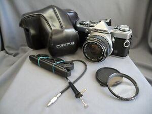 Olympus OM-1 Chrome SLR Film Camera