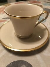 Lenox Eternal China Cup And Saucer Gold Trim Made In USA