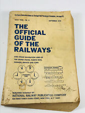 1970 Official Guide of the Railway maps timetables crew change atlas railroad