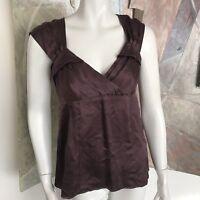 Nanette Lepore Love Me Tender Silk Sleeveless Purple Blouse Top B SZ 6