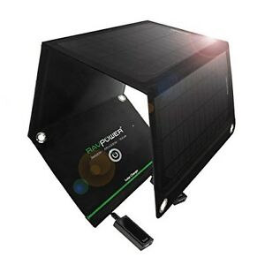 New RAVPower Portable Solar Charger Foldable Solar Panel Smartphone Tablet