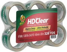 Duck Hd Clear Heavy Duty Packing Tape Refill 188 Inch X 546 Yard 6 Rolls